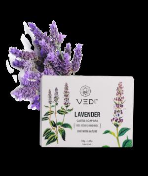 Vedi Herbal Lavender Castile Soap Bar 100gm