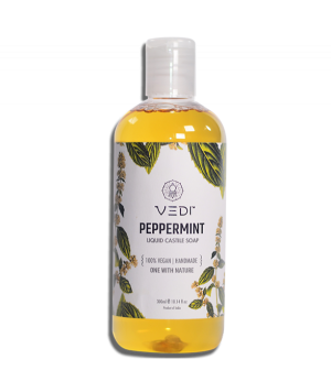 Vedi Herbal Peppermint Liquid Castile Soap 300ml