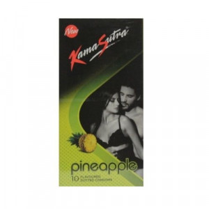 KAMASUTRA PINEAPPLE FLAVOURED CONDOMS 10'S