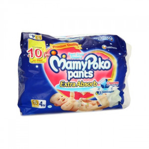 MAMYPOKO EXTRA ABSORB DIAPER PANTS (S) 4'S