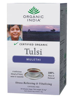 Organic India Tulsi Tea Mulethi 18 Tea Bag