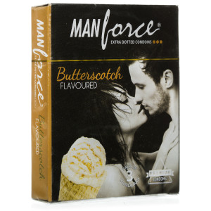 MANFORCE CONDOMS EXTRA DOTTED BUTTERSCOTCH SET OF 3*20