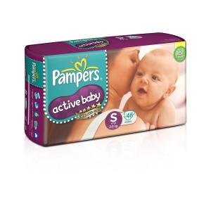 PAMPERS ACTIVE BABY (S) 46'S