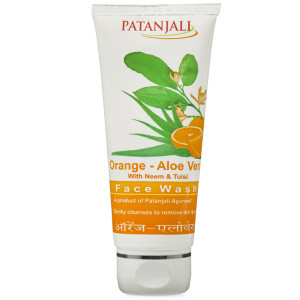 Patanjali orange aloevera facewash 60gm