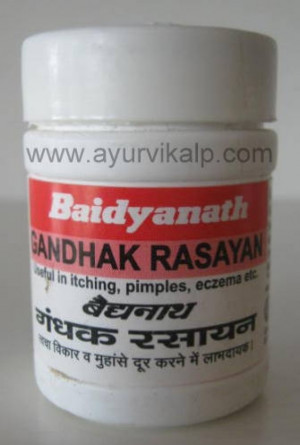 Gandhak rasayan tablet pack of 80 tabs