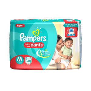 PAMPERS BABY-DRY PANTS (M) 38'S