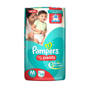 PAMPERS BABY-DRY PANTS (M) 56'S