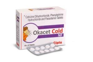 Okacet Cold Tablet 10's(Cetirizine (5mg) + Paracetamol / Acetaminophen (325mg) + Phenylephrine (10mg)