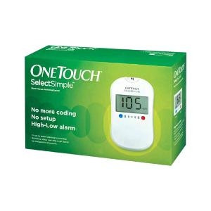 One Touch Select Simple Device (Box of 10 Test strips Free)