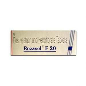 ROZAVEL F 20MG TAB 10'S(Fenofibrate (160mg) + Rosuvastatin (20mg)