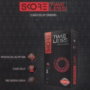 Skore TimeLess Dotted, Ribbed and Climax Delay Condoms - 10's Pack