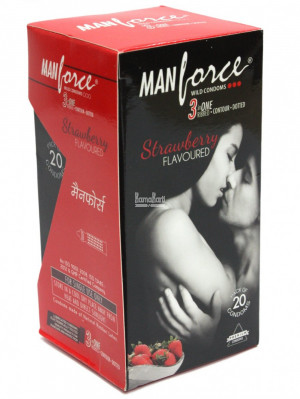 MANFORCE CONDOMS WILD STRAWBERRY SET OF 3*20