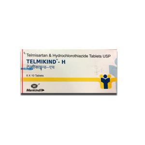 Telmikind H TAblet 10's(Telmisartan (40mg) + Hydrochlorothiazide (12.5mg)