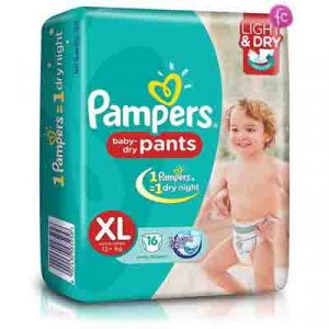 PAMPERS BABY-DRY PANTS (XL) 16'S