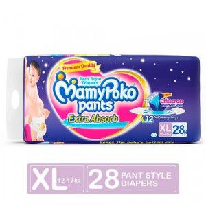 MAMYPOKO EXTRA ABSORB DIAPER PANTS (XL) 28'S