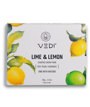 Vedi Herbal Lime & Lemon Castile Soap Bar 100gm