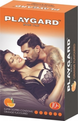 Playgard More Play Super Dotted Condom Orange Pack of 10*3