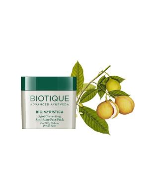 Biotique Bio Myristica Spot Correcting Anti Acne Face Pack 20gm