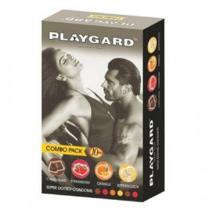 Playgard More Play Super Dotted Combo Condom Pack of 10*3
