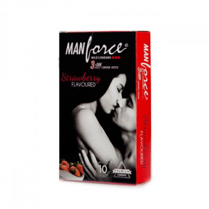MANFORCE CONDOMS WILD STRAWBERRY SET OF 3*10