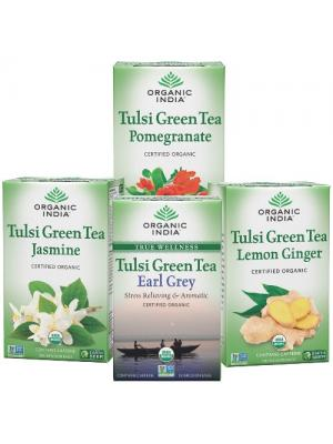 Organic India Tulsi Green Tea Set