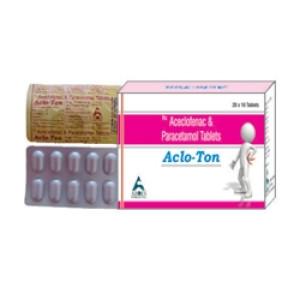 Acloton tablet 10's(Aceclofenac 100 mg + Paracetamol 325 )
