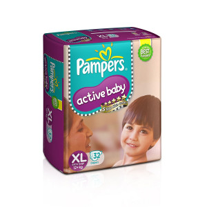 PAMPERS ACTIVE BABY (XL) 32'S