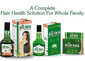 Kesh King Complete Hair Loss Treatment Kit with Oil + Shampoo + Herbal Capsules