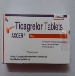 Axcer 90 mg Tablet 14's(Ticagrelor 90mg)