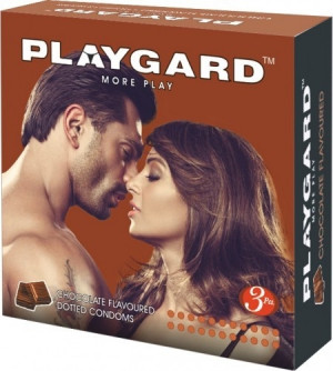 Playgard Dotted Condom Chocolate Pack of 3*4