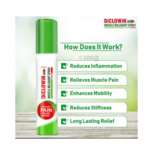 Diclowin MR Muscle Relaxant Spray 60gm