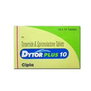Dytor Plus 10 Tablet(Spironolactone (50mg) + Torasemide (10mg)