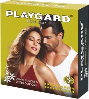 Playgard Dotted Condom Jasmine Pack of 3*4