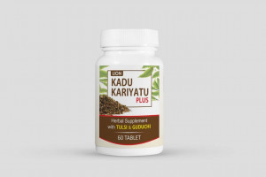 Kadu Kariyatu Plus Tab 60's(Herbal suppliment with Tulsi & Guduchi)