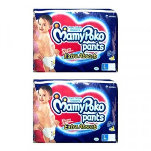 MAMYPOKO EXTRA ABSORB DIAPER PANTS (L) 4'S