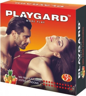 Playgard Dotted Condom Mixed fruit Pack of 3*4