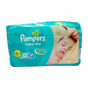 PAMPERS BABY-DRY NB (S) 46'S