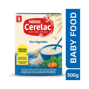 Nestle Cerelac with Milk 8 Months+ Rice Vegetable 300gm