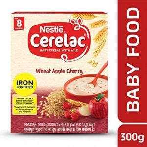Nestle Cerelac with Milk 8 Months+ Wheat Apple Cherry 300gm