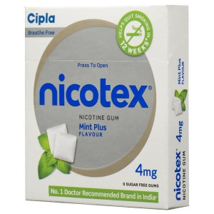 NICOTEX PLUS 4 MG CHEWING GUMS MINT 10s