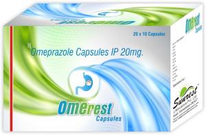 Omerest Capsules 10'S(OmePrazole 20mg)