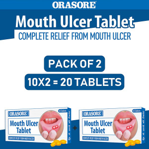 Orasore Mouth Ulcer tab pack of 20