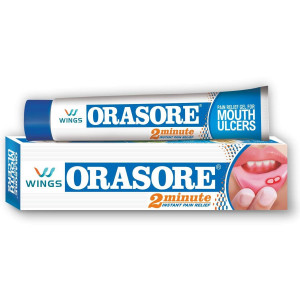 Orasore Mouth Ulcer Relief Gel 12gm*2