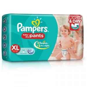 PAMPERS BABY-DRY PANTS (XL) 32'S