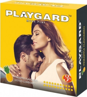 Playgard Dotted Condom Pineapple Pack of 3*4