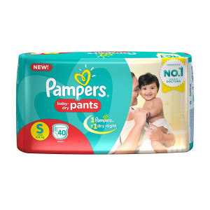 PAMPERS BABY-DRY PANTS (S) 40'S