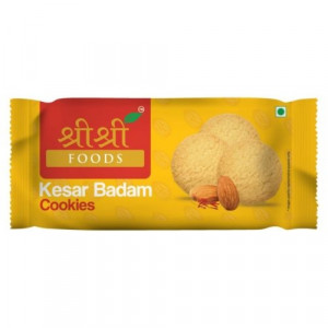 SRI SRI KESAR BADAM COOKIES (62.5GM*12)PACKS