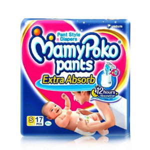 MAMYPOKO EXTRA ABSORB DIAPER PANTS (S) 17'S