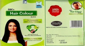SBL Hair Colour 12 Sachets Black