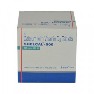 Shelcal 500mg tablet 15's( Bone, Joint & Muscle Care)